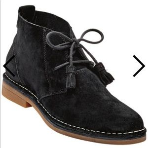 Hush Puppies Cyra Catelyn black suede shoes